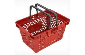 SUPER MARKET PLASTIC BASKET 20lt RED
